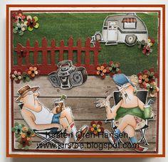 Kirstens Hobbyblogg: Gullbryllupskort Flower Power, Art Impressions, Copic Markers, Tim Holtz, Cards, Art Prints, Maps, Playing Cards
