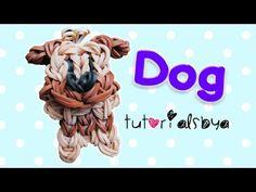 Rainbow Loom PUPPY / DOG Charm (Bobble head). Designed and loomed by TutorialsbyA. Click photo for YouTube tutorial. 04/01/14