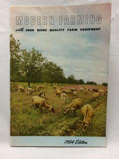 Vintage John Deere Modern Farming Tractor + Accessory Catalog 1954 Edition Farm #JohnDeere