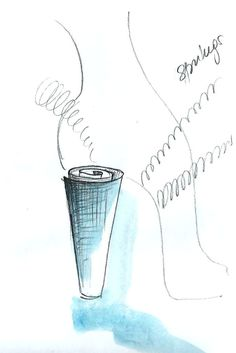 Heel Jewel Shoe drawing by Alessia Semeraro / London Architecture inspiration //