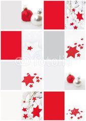 Foto: Geschenkanhänger Weihnachten, rot, weiß, Weihnachtsmotive