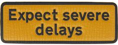 Anya Hindmarch Expect Severe Delays textured-leather adhesive sticker