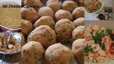 TODAS LAS RECETAS : Proteinas vegetales: Albondiguitas de soja para dos opciones.