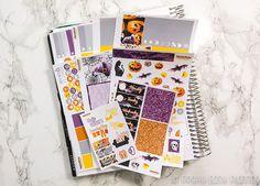 Halloween sticker kit Erin Condren vertical Happy Planner