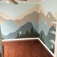 Packed up what was left in MG3's playroom today. All that remains is the mural my brother painted. This was always my favorite room in the house. I'm a little sad to leave it behind
