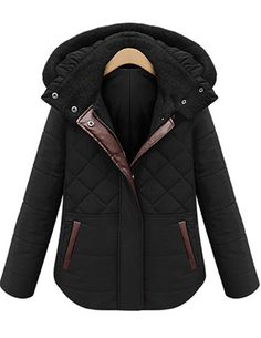 Shop Black Hooded Long Sleeve Diamond Patterned Coat online. Sheinside offers Black Hooded Long Sleeve Diamond Patterned Coat & more to fit your fashionable needs. Free Shipping Worldwide!