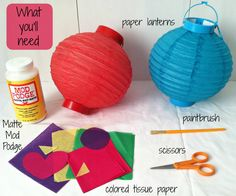 How to: Decorate your own party lanterns #BabyCenterBlog