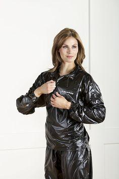 pvc rainsuit NordicTrack vinyl reducing suit