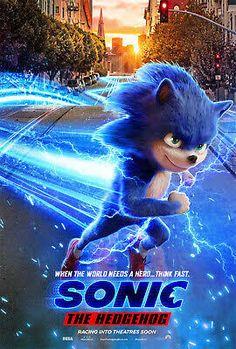 Sonic the Hedgehog Poster 2019 Movie Jim Carrey Film Print Sonic The Hedgehog, Hedgehog Movie, Jim Carrey, 2020 Movies, New Movies, Movies Online, Upcoming Movies, Pixar Movies, Pikachu
