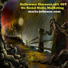 10% OFF halloween discount on social media marketing