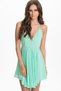 Sexy T Back Layered Chic Green Women Dress