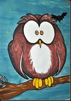 owl for tree in mural