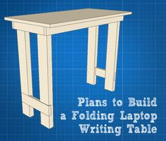 Folding Laptop / Writing Table Tutorial #DremelMaker