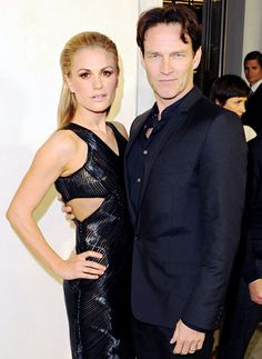 Anna Paquin and Stephen Moyer hit up Tom Ford's cocktail party in support of Project Angel Food Media in Beverly Hills Feb. 21.