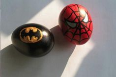 Spiderman Batman Easter eggs decoration