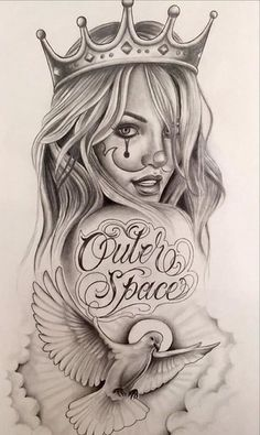 Easily Done Guides Chola Tattoo Designs Chicano Art Chola Gangster Cartoon Drawings Chicano Art Tattoos, Chicano Drawings, Skull Tattoos, Body Art Tattoos, Girl Tattoos, Sleeve Tattoos, Gangster Drawings, Chicano Tattoos Gangsters, Girl Face Tattoo