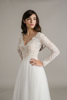 Sally Eagle Genevieve Wedding Dress   maybe a little less low cut
