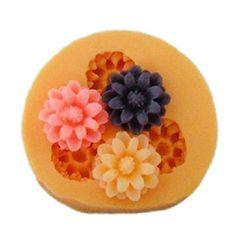 FMY Silicone mold / three flower cake mold / baking mold