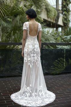 Hermione, Rose Gown, Garden Wedding Dresses, Virtual Fashion, Illusion Neckline, Blush Roses, Bridal Boutique, Couture Dresses, Wedding Inspiration