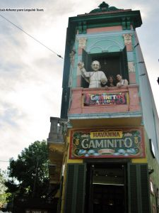 Caminito, La Boca, Buenos Aires. Papa Francisco.
