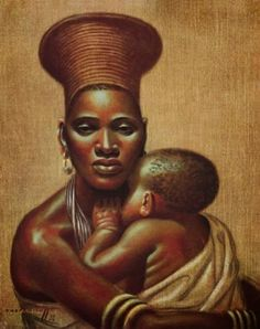 ~ Vladimir Tretchikoff ~ Russian artist, 1913-2006: Mother and Child
