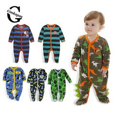 0-12M FLEECE BABY ROMPERS BABY GIRL BOY CLOTHING INFANT BABY GIRLS CLOTHES JUMPSUITS FOOTED COVERALL AUTUMN Price - $5.59