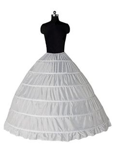 Petticoat can used for wedding dresses or perform dresses.It will give your dress a better shape for the fullness.Drawstring Waistband fits more size.The hoops can be slightly adjusted smaller....