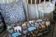 Custom Modern Baby Crib Bedding Design by MissPollysPieceGoods