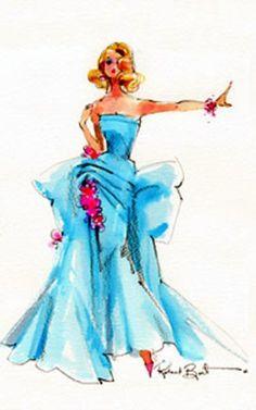 """Barbie """"Delphine"""" Sketch bt Robert Best"""