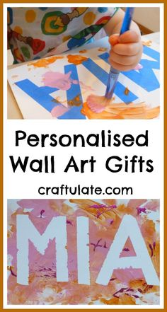 Personalised Wall Art Gifts from Craftulate - easy for toddlers to make!