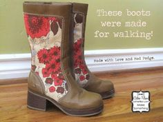 20 Mod Podge shoe projects - revamp your footwear! Some great shoe ideas!