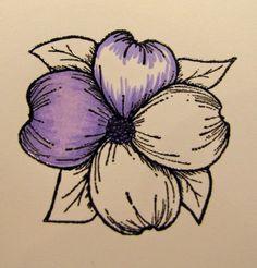 Kendra's Card Company: Pretty Purple Flowers ~ Spectrum Noir/Gina K Tutorial Spectrum Noir Pencils, Spectrum Noir Markers, Digi Stamps Free, Noir Color, Copic Markers Tutorial, Colouring Techniques, Shading Techniques, Alcohol Markers, Alcohol Inks