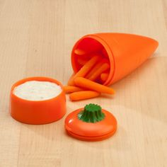 Carrots & Dip to Go - Food Storage - Storage & Holders - Miles Kimball