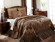 Prescott Bedding Quilted / Like us on Facebook!  https://www.facebook.com/AllysonsPlaceDecor / #Primitive #country #Cabin