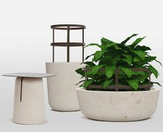 Piro / pietra & metallo Experience Map, Planter Pots, Objects, Vase, Ceramics, Sofas, Chairs, Design, Home Decor