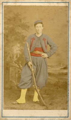 cdv of a Civil War Zouave. Ed., this looks like a Papal Zouave