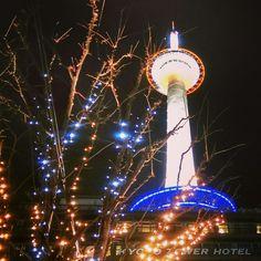 Kyoto tower, Japasta, Night