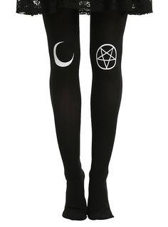 Black Moon & Symbol Tights, BLACK