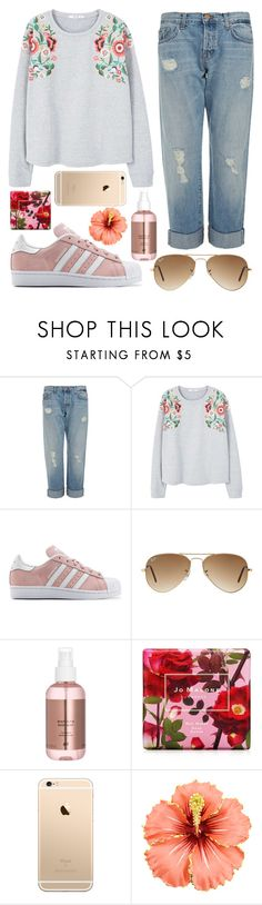 """""""Hibiscus #0368584"""" by flowersfordinner ❤ liked on Polyvore featuring J Brand, MANGO, adidas Originals, Ray-Ban and Jo Malone"""