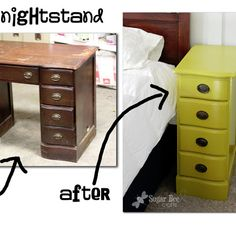 make a nightstand out of an old desk!  really!  this is genius