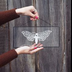 Art paper cut in a glass frame by Eugenia Zoloto