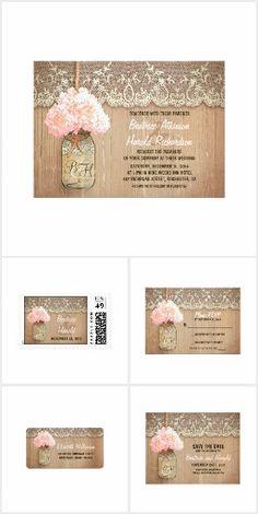 Rustic Mason Jar Hydrangea Wedding Collection