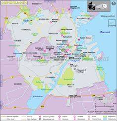 World Geography Map, Capital Of Denmark, Copenhagen Map, Night Bus, National Gallery, Affordable Hotels, Country Names, Tourist Places, Location Map