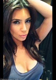 Doppelgänger: Kendall's snapshot was reminiscent of her sister Kim Kardashian, a self-conf...