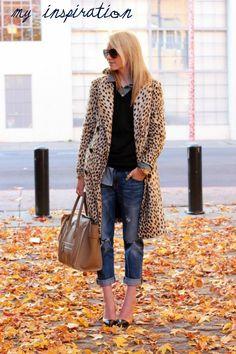 Animal coat n jeans