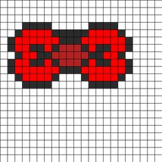 Hello Kitty Bow Perler Bead Pattern | Bead Sprites | Misc Fuse Bead Patterns
