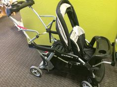 Baby Trend Sit 'n Stand LX | Take your baby out in style with the Baby Trend Sit N Stand LX Stroller. It features a removable, stand-on platform that you old child can use wherever he wishes to hitch a ride. The lightweight stroller can accommodate a infant car seat that allows easy transportation facility.  Click the link below to get additional details and see more photos of this item!  | LilyPads - Lincoln , NE