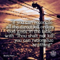 Can you rationalise 'Thou shalt not kill' will gods orders to kill? It's negotiable like all of religion.