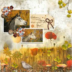 Anntaurus Designs 'Artfully Autumn Digital Scrapbook Papers & 'Autumn Calling' Digital Scrapbook Kit.