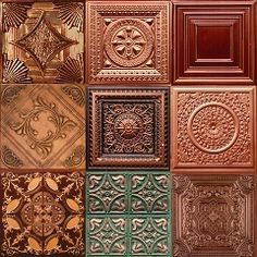 Faux Copper Ceiling Tin Category Colage of Images